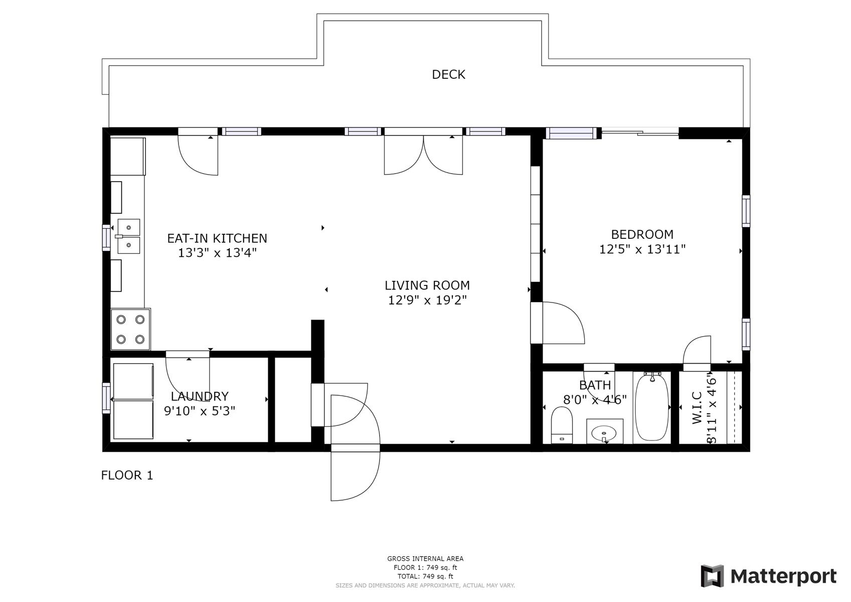 Floor Plan for Barn Cabin at Deerwoode Reserve